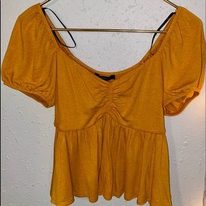 Forever 21 small yellow shirt